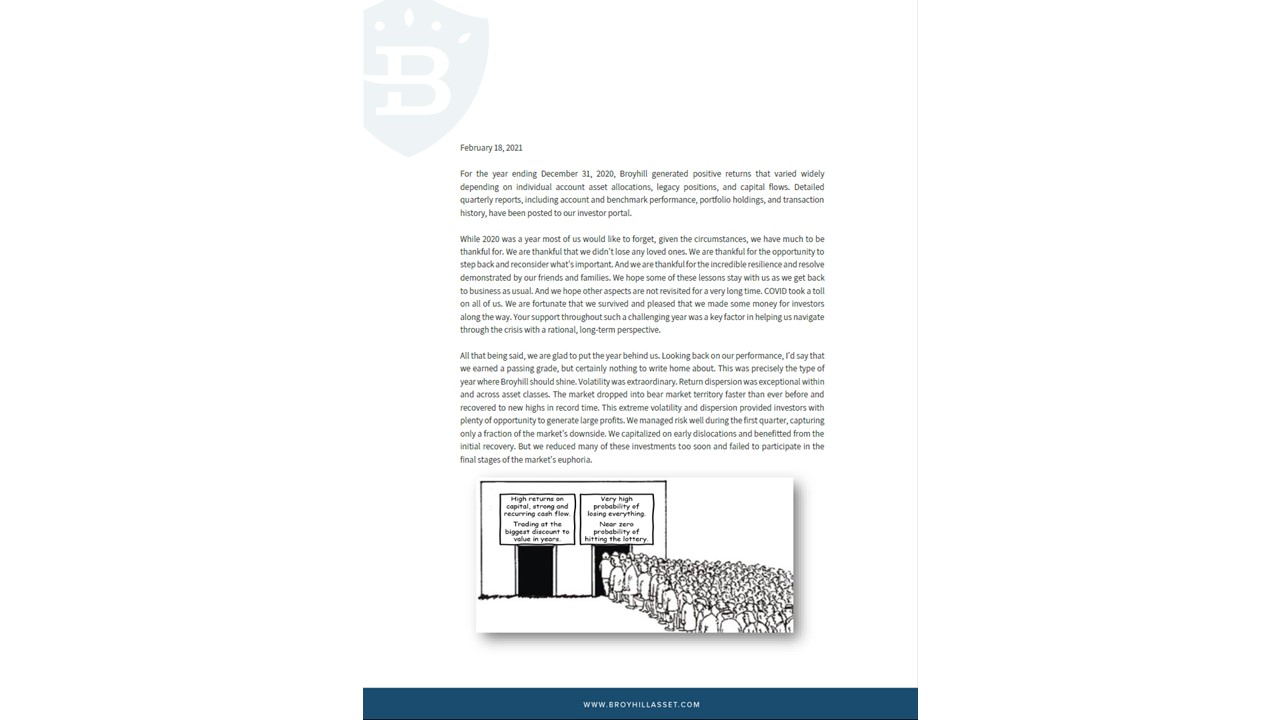 Broyhill 2020 Annual Letter